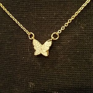 Gold butterfly necklact